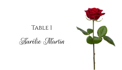 Marque Place Original A Imprimer Pour Un Mariage Ou Pour Noel